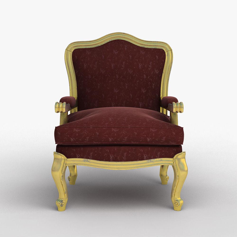 Louis Xv Classic Chair 3d Model Max