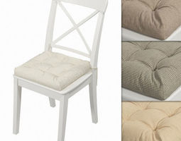 3D model Ikea Ingolf chair with a pillow Hoff Other 1