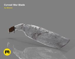 3D asset Curved War blade