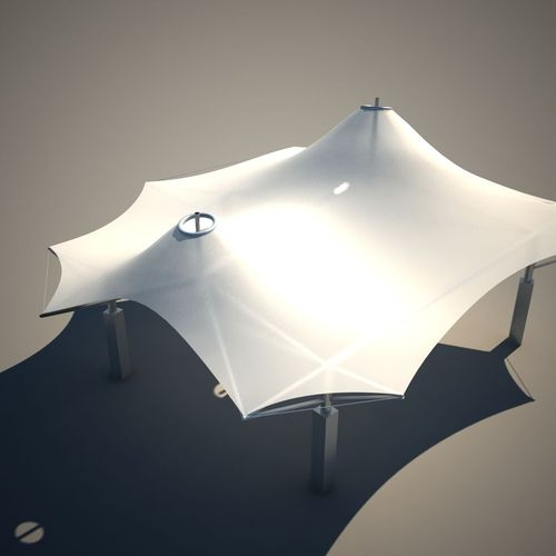 Membrane Tent Roof 3d Model Game Ready Max Cgtrader Com