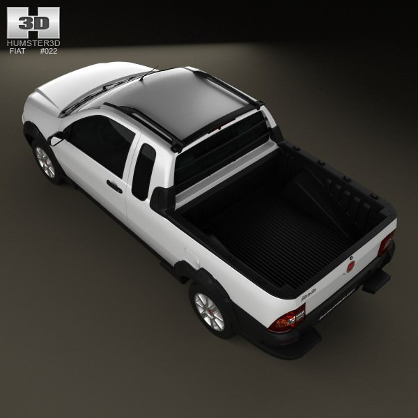 fiat strada crew cab trekking 2012 3d model max obj 3ds. Black Bedroom Furniture Sets. Home Design Ideas
