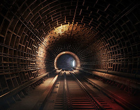 Railway tunnel 3D asset