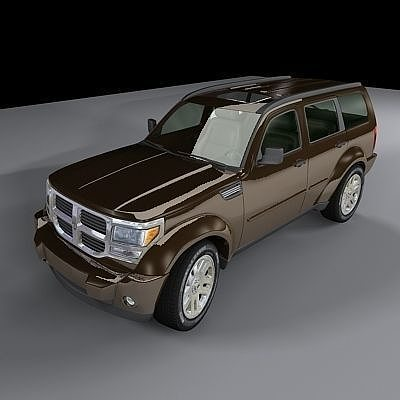 dodge nitro 2007 3d model max. Black Bedroom Furniture Sets. Home Design Ideas