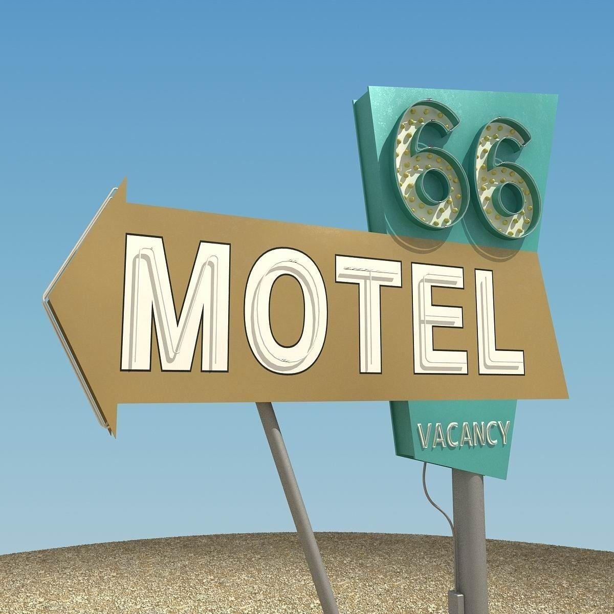 Motel Sign 3D Model .max