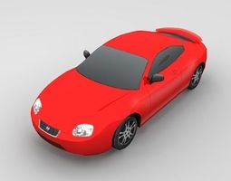 3d asset low-poly hyundai coupe