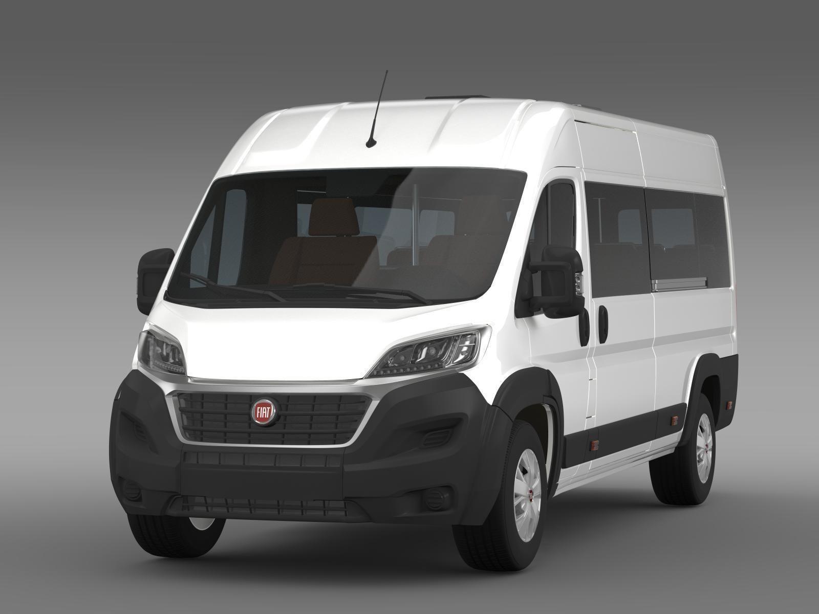 fiat ducato scuolabus 2015 3d model max obj 3ds fbx. Black Bedroom Furniture Sets. Home Design Ideas