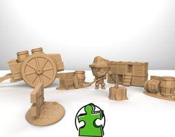 3D printable model farmer collection