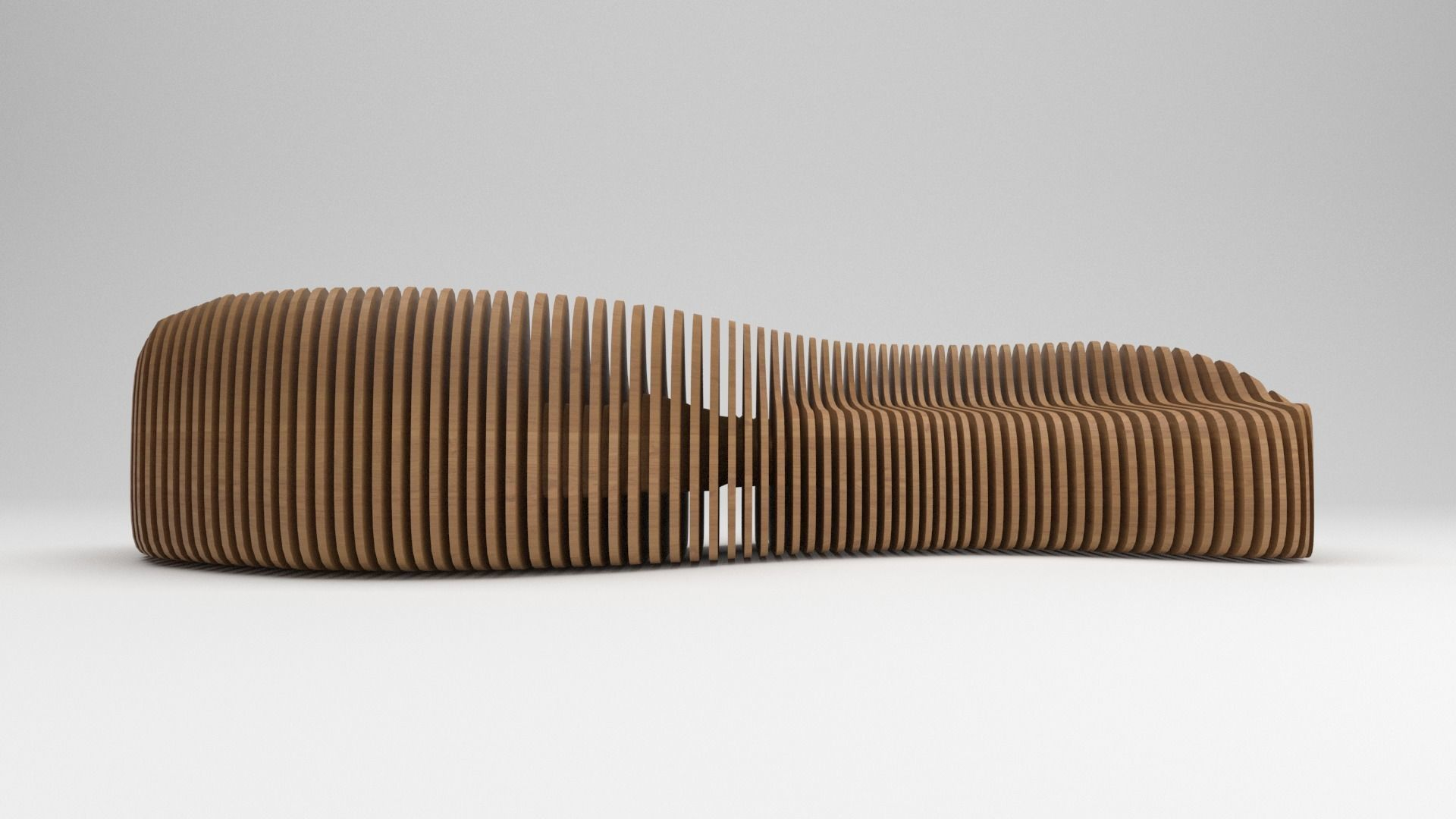 Parametric wooden bench