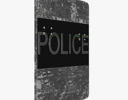 Police shield 3D Model