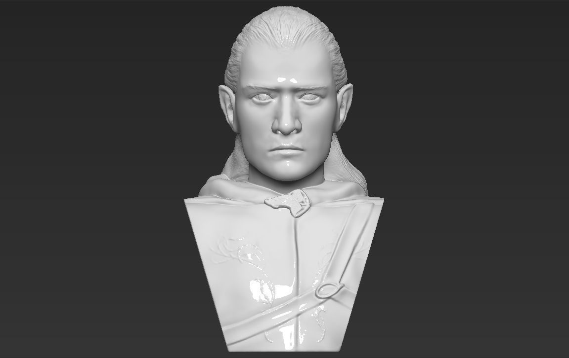Legolas bust Lord of the Rings 3D printing ready stl obj formats