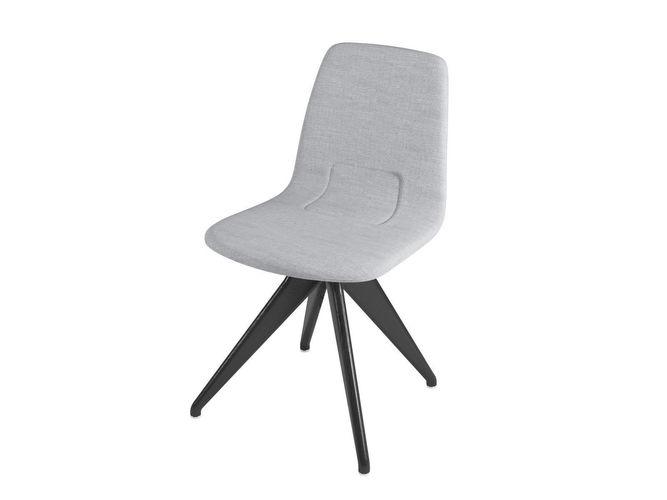 chair torso 837-i potocco gray flax and black ash 3d model max obj mtl fbx 1