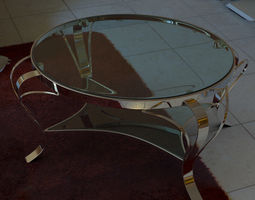 Coffee table 3d model with vray materials