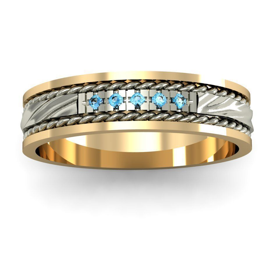 wave engagement ring  with gems