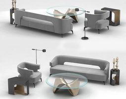Holly Hunt furniture set 3D model