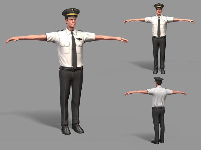 pilot 3d model max fbx 1