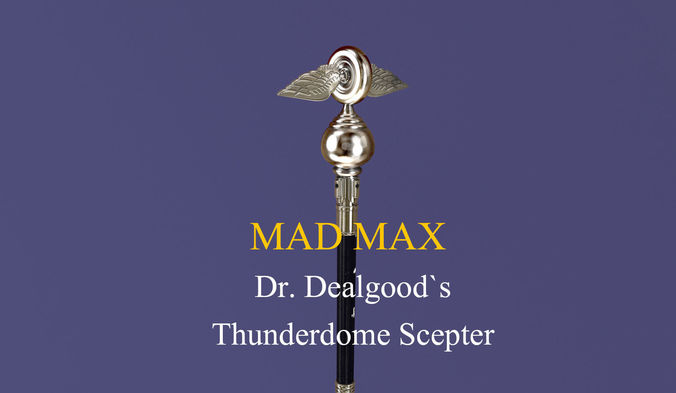 mad max dr dealgoods thunderdome scepter 3d model c4d 1