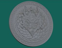 3d printable model dragon coin