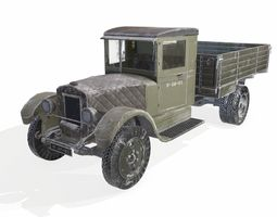 military truck snow version 3D asset
