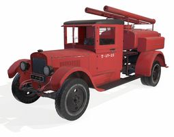 3D asset VR / AR ready soviet truck fire engine