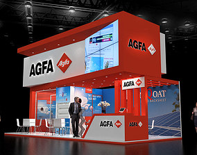 3D model Exhibition stand 9x4Mtr Three Side