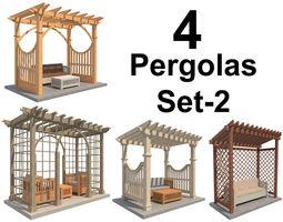3D model 4 Pergolas Set 2