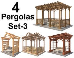 3D model Pergolas Set 3