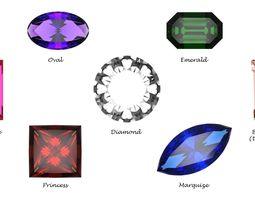 3D model Gem stones