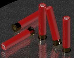 4-10 Shotgun pistol shell 3D Model