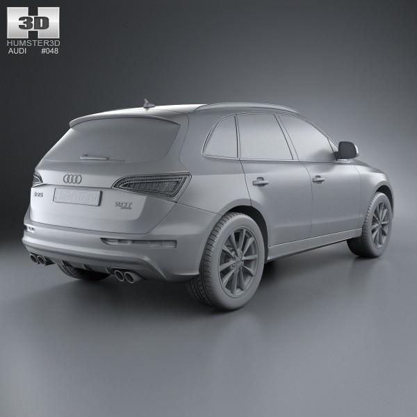 Audi SQ5 2013 3D Model .max .obj .3ds .fbx .c4d .lwo .lw