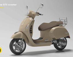 Vespa GTS scooter 3D asset