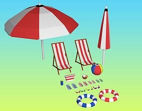 Summer Pack Little Low Poly 3D model