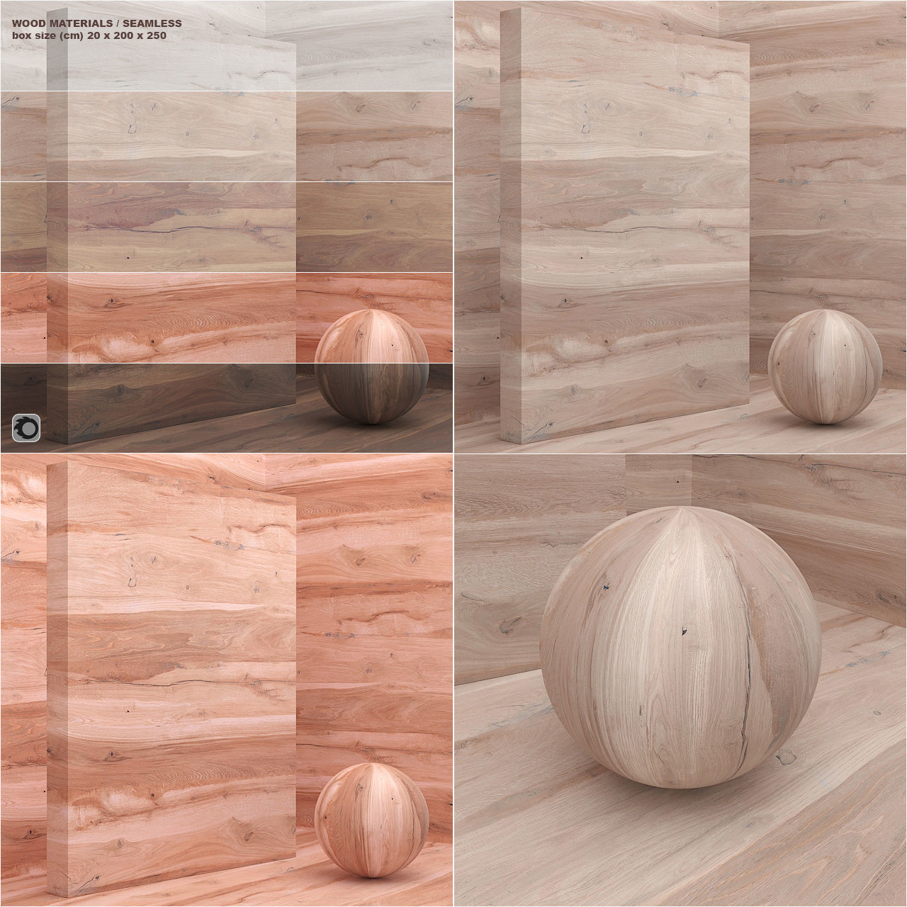 Materials wood veneer slab seamless