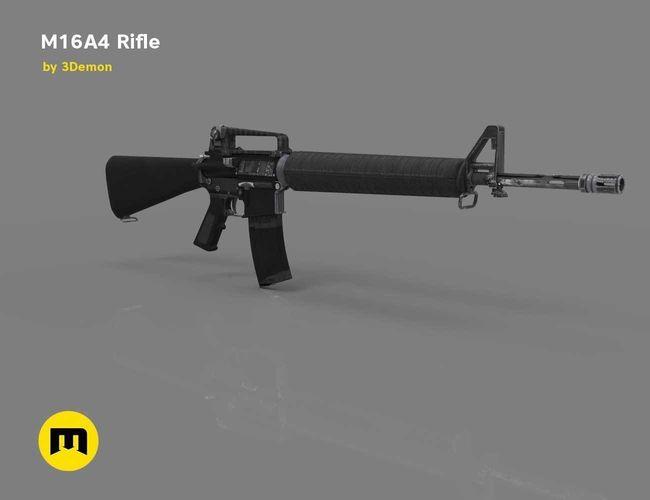m16a4 rifle  3d model obj mtl stl tga 1