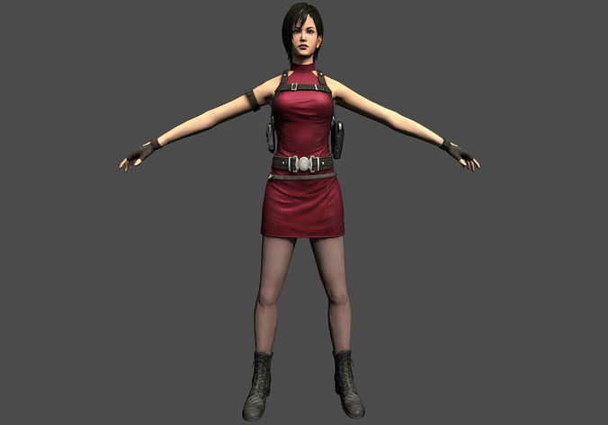 [3D] Ada Wong - red dress - complete work — polycount
