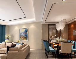 Modern House interior 3dmax