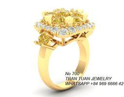 3D print model 700 Diamond Ring