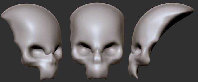 skull split 3d model obj mtl stl 1
