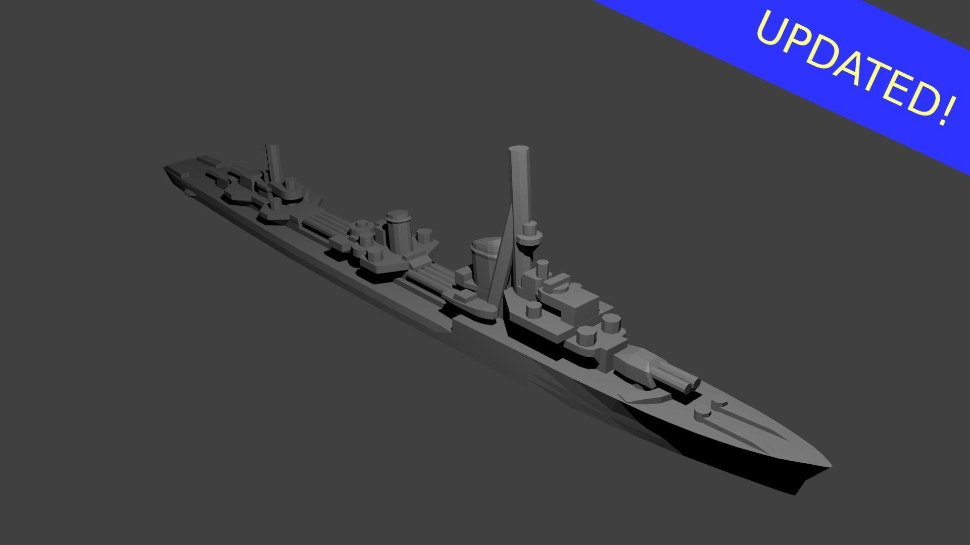 German Type 1936A Destroyer