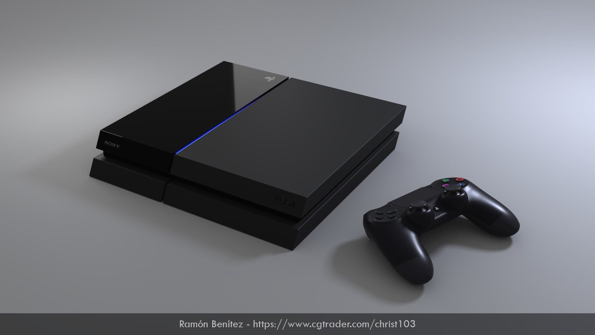 Sony Playstation 4 Low Poly