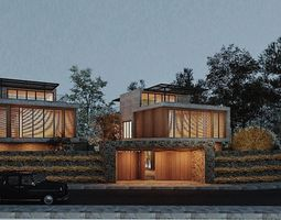 3D Hill Villa Twins