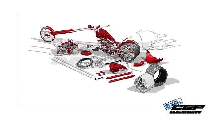 Chopper CHIKA design by paX CGPdesign