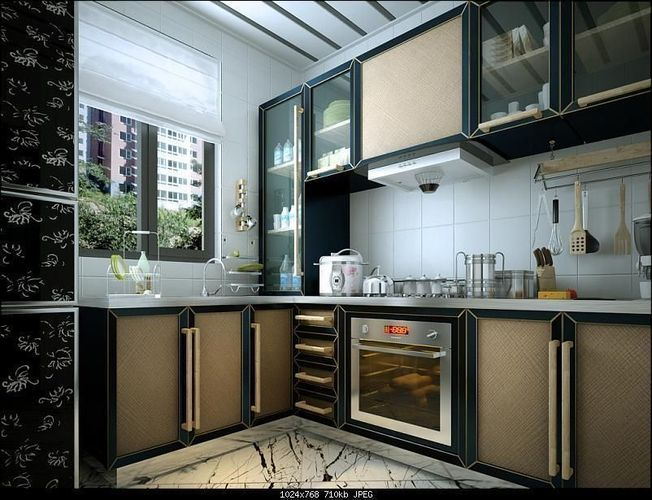 3d 039 kitchen cgtrader for Roomstyler kitchen
