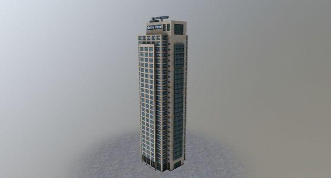 amsterdam mondriaan tower 3d model low-poly max obj mtl 3ds fbx 1