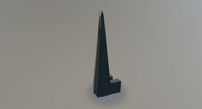 london the shard 3d model low-poly max obj mtl 3ds fbx 1