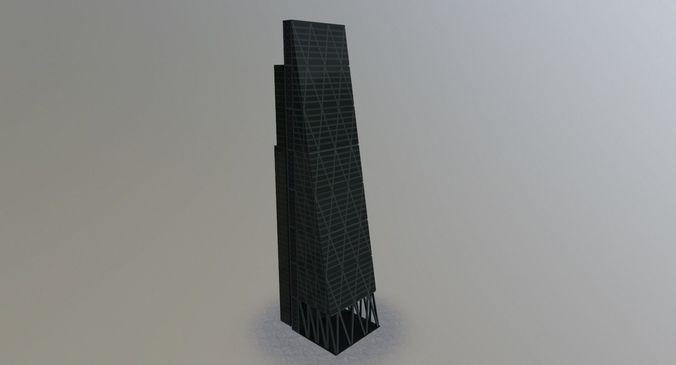 london leadenhall skyscraper 3d model low-poly max obj mtl 3ds fbx 1