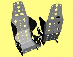 Light weight car racing interior seat 3D model