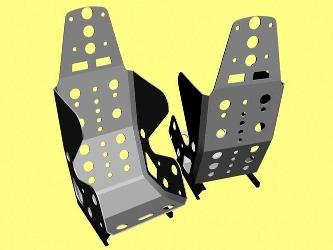 light weight car racing interior seat 3d model max obj mtl fbx 1