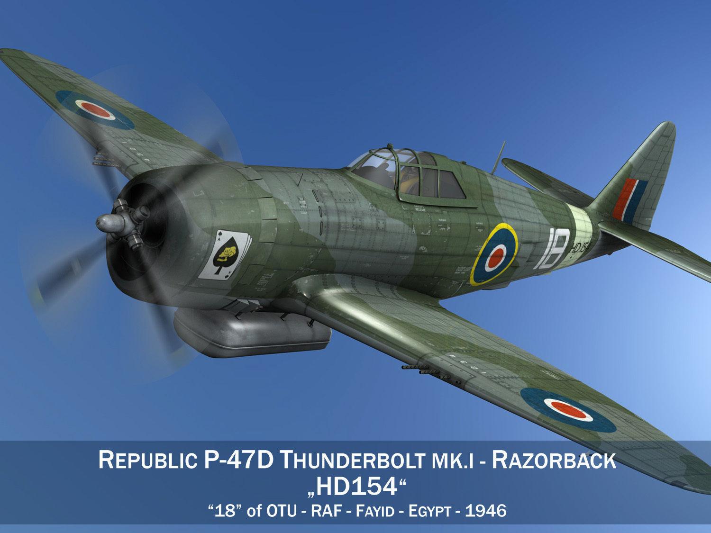 D-Day REPUBLIC P-47D Thunderbolt Razorback Flugzeug Militär 1:144 Modelle Modell