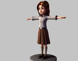 private teacher housewife 3D asset