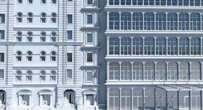 commercial building facade 19 3d model max fbx 1